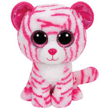 PELUCHE TY BABIES ASIA-WHITE TIGER  15 CM