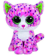 PELUCHE TY SOPHIE-PINK CAT 15 CM
