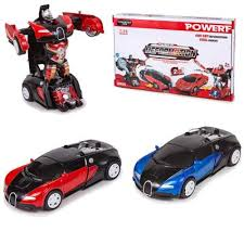 COCHE METAL TRANSFORMER BUGATI
