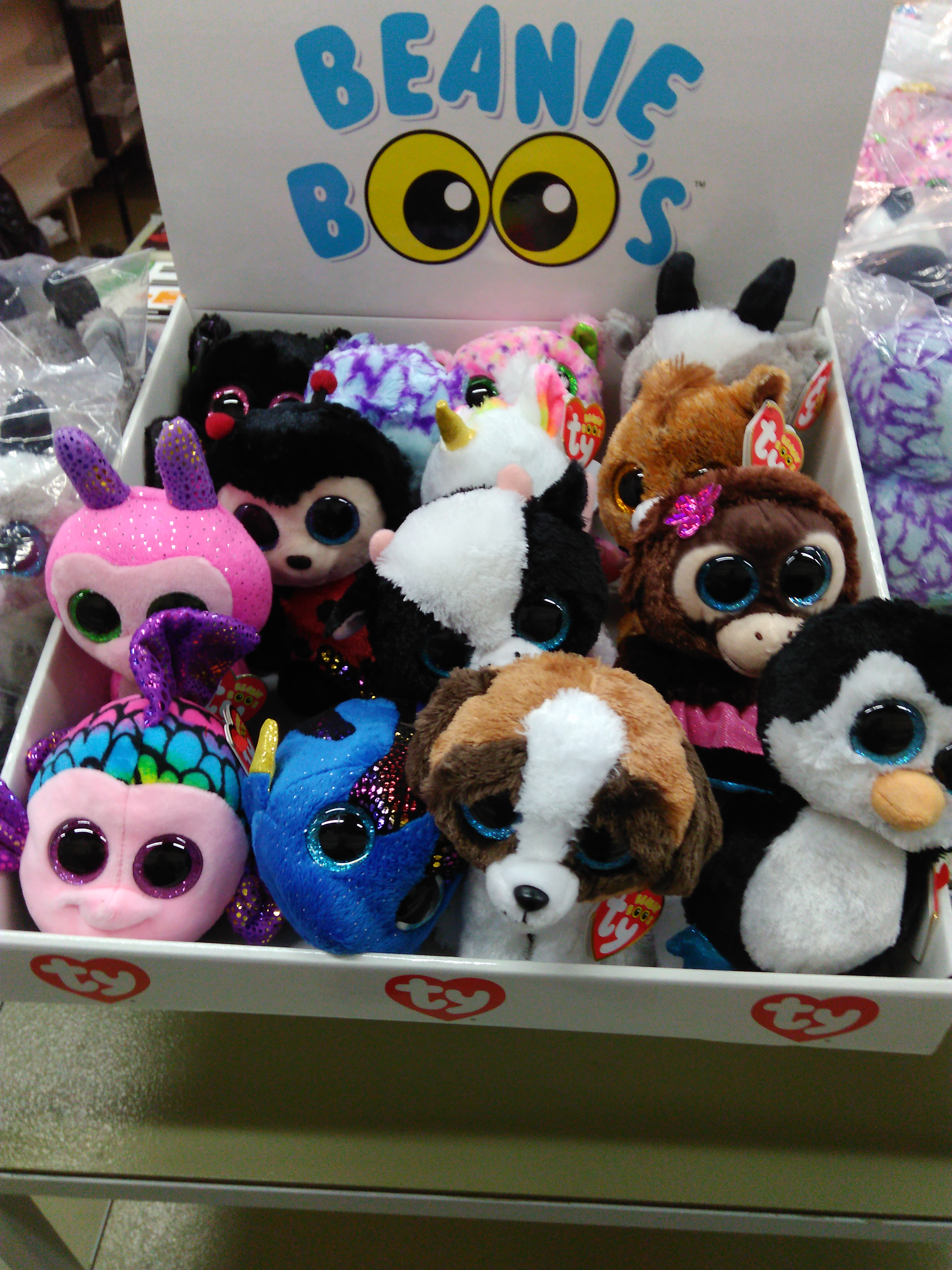 EXPOSITOR PELUCHES TY ( 12 u )