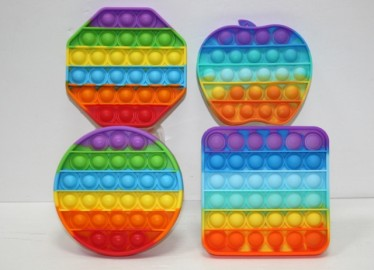 POP ITS FIDGER TOYS ARCOIRIS X 4 ( ANTIESTRES )